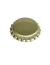 gold bottle cap